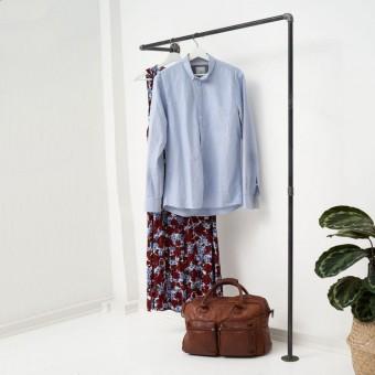 various Garderobe & Kleiderstange - Industrial Design aus Wasserrohr und Temperguss HALLWAY (Sonderanfertigung)
