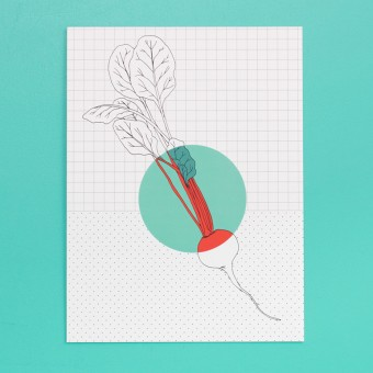 polypodium / Print - Rote Bete - 15 cm x 20 cm - A5