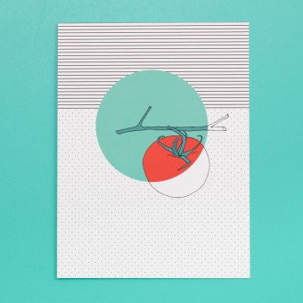 polypodium / Print - Tomate - 15 cm x 20 cm - Küchenprint - A5