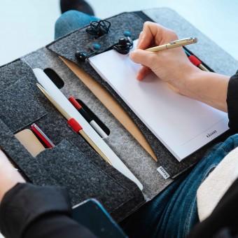 """RÅVARE 11"""" Tablet-Organizer im skandinavischen Stil aus Filz, funktionales A5-Businessetui"""