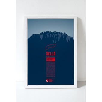 "Bergdruck ""Sella"" von Marmota Maps"