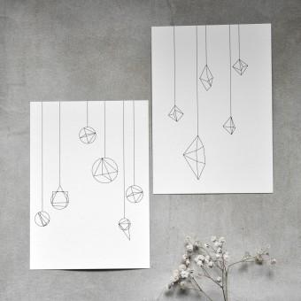 na.hili 10er-Set POSTKARTEN in love with shapes