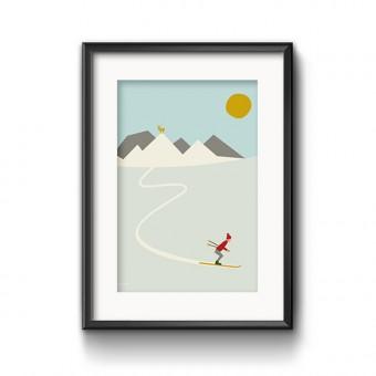 Roadtyping Ski Print 30x40cm
