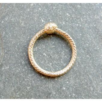 vivian meller jewellery Seilring Gold585 einfacher Knoten