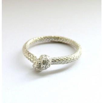 vivan meller jewellery Seilring Silber einfacher Knoten