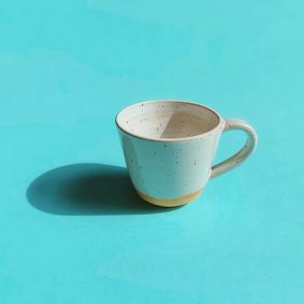 Kleine Henkeltasse, weiß // NOTON Keramik