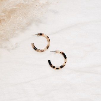 EVE+ ADIS // ACETAT HOOPS SMALL amber
