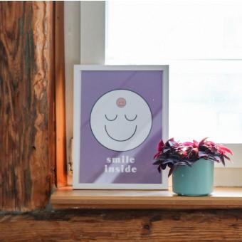 """stahlpink - """"smile inside""""-Poster, Fine-Art-Print"""