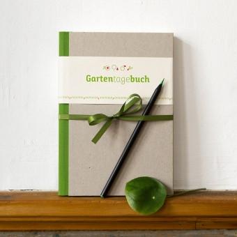 Gartentagebuch, grau, immerwährender Kalender, Gartenchronik und Notizbuch für Hobbygärtner