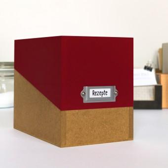 sperlingB – Rezeptbox, weinrot, Karteikartenbox für Rezepte