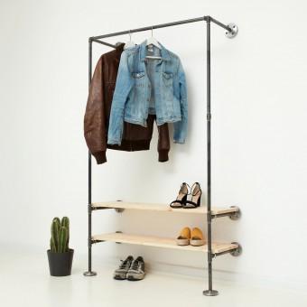 various Industrial Design Garderobe mit Regal IDEAL TWO (auch Wunschmaß möglich)