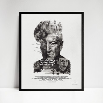 stellavie Movie Director Portrait Print, David Lynch