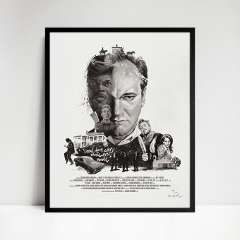 stellavie Movie Director Portrait Print, Quentin Tarantino