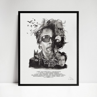 stellavie Movie Director Portrait Print, Tim Burton