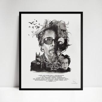 stellavie Movie Director Portrait Print, Tim Burton