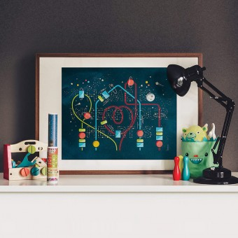 Home Is Where Your Heart Is (Glow In The Dark Print)