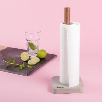 Stilbeton - STANDPUNKT - Küchenrollenhalter aus Beton und Holz