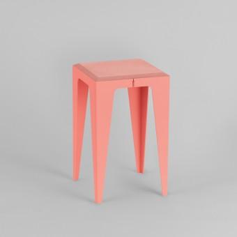 HOCKER CHAMFER kalypso-rot *EXKLUSIVE KOLLEKTION* | nachhaltiges Möbeldesign | WYE