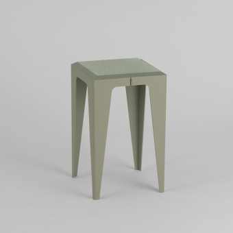 HOCKER CHAMFER lavendelblatt-grün | nachhaltiges Möbeldesign | WYE