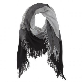 SYDNEY Schal Wollschal schwarz/grau