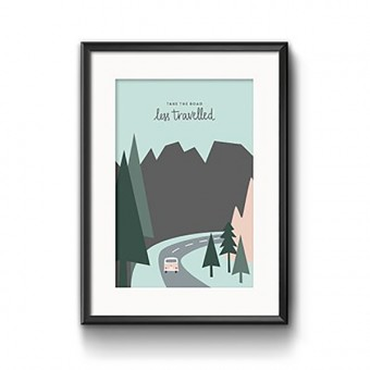 "Roadtyping Print ""Take the road"" 