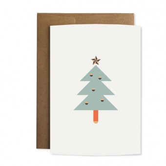 """Edith schmuckes Papier """"Weihnachtstanne"""" Grußkarte"""