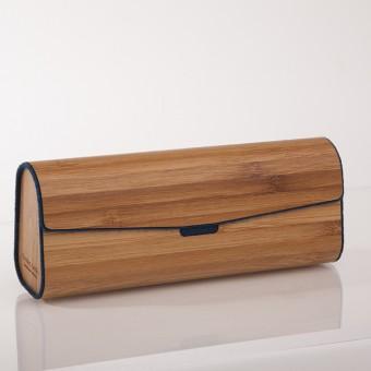 formes Berlin -  Brillenetui aus Holzfurnier - gedämpfter Bambus Dunkelblau
