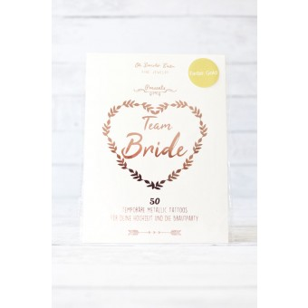 Oh Bracelet Berlin – TEAM Bride Tattoo Set 50-teilig