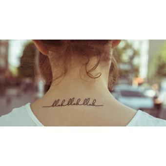Temporary Tattoo - Blahblahblah (2er Set)