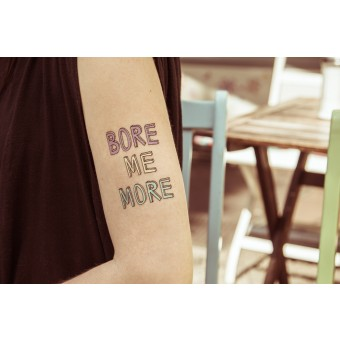 Temporary Tattoo - Bore Me More (2er Set)
