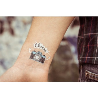 Temporary Tattoo - camera (2er Set)