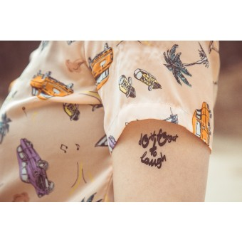 Temporary Tattoo - don't forget to laugh (2er Set)