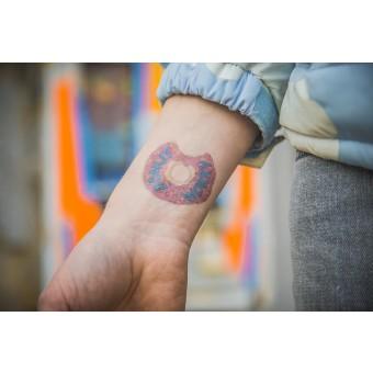 Temporary Tattoo - donut (2er Set)