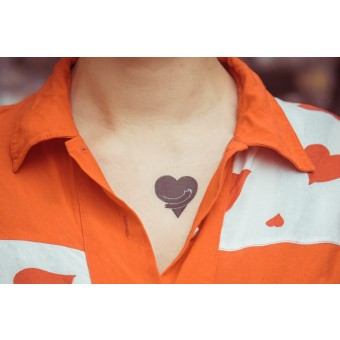 Temporary Tattoo - heart (2er Set)