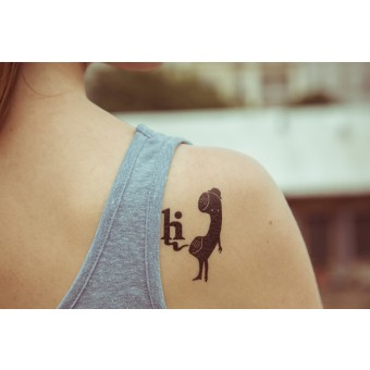Temporary Tattoo - Hi (2er Set)