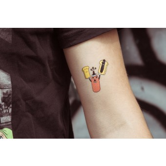 Temporary Tattoo - Ketchup (2er Set)