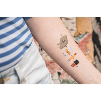 Temporary Tattoo - office club (2er Set)