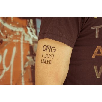 Temporary Tattoo - OMG (2er Set)