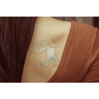 Temporary Tattoo - Strong Dude (2er Set)