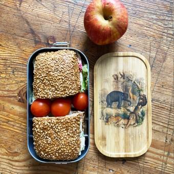 madeva Holzliebe nachhaltige Brotdose wilde Tiere