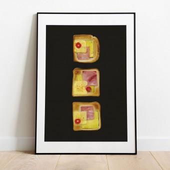 Toast Hawaii Poster/Kunstdruck A3 von Max Faber