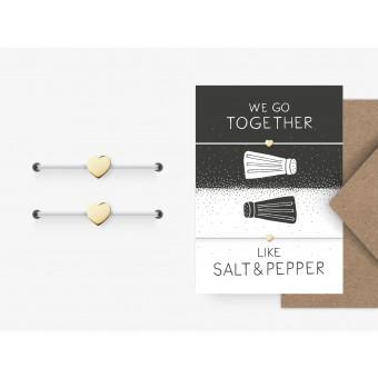 typealive / Freundschaftsarmband / Salt & Pepper