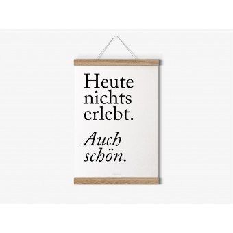 typealive / Magnetische Posterleiste aus Eiche / perfekt für DIN A2-Prints