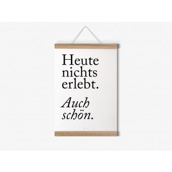 typealive / Magnetische Posterleiste aus Eiche / perfekt für DIN A4-Prints