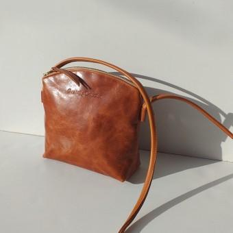Grotkop Collection Handtasche UNA cognac, pflanzlich gegerbt, deutsches Leder