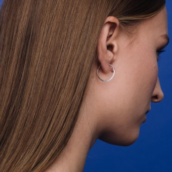 fejn jewelry - Creole 'flat shiny'
