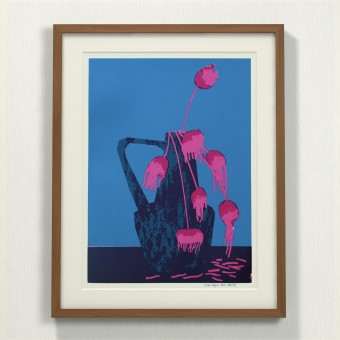 Print now - Riot later ● Vase #3 Siebdruck
