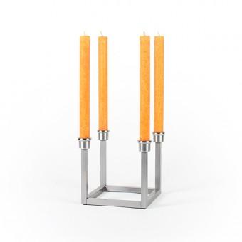 Kerzenständer WACHSAUFSEHER Edelstahl/Edelstahl