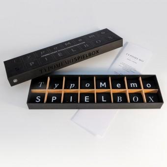 TypoMemo Spielbox - Vom Verstecken und Entdecken typografischer Details