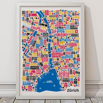 Vianina Zürich Poster 50x70